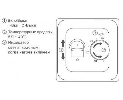 Купить Терморегулятор для теплого пола механический RTC 70.26 в Санкт-Петербурге